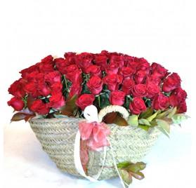 Ram de 100 Roses Vermelles
